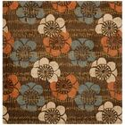 Charlotte Hand-Hooked Brown Area Rug Rug Size: Square 6'