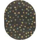 Diana Pewter Area Rug Rug Size: Oval 8' x 10'