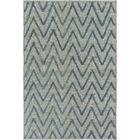 Rachelle Hand-Woven Teal/Bright Blue Area Rug Rug Size: Rectangle 4' x 6'