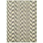 Ayden Grey/White Area Rug Rug Size: 7'9