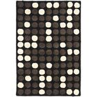 Freda Hand-Tufted Black/White Area Rug Rug Size: Rectangle 3'6