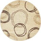 Jachim Beige Area Rug Rug Size: Round 8'