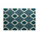 Bevis Geometric Print Hand-Woven Aqua Indoor/Outdoor Area Rug Rug Size: Rectangle 4' x 6'