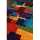 User Hand-Tufted Red/Orange Area Rug Rug Size: Rectangle 8' x 11'