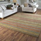 Donaghy Hand-Woven Green Wool Area Rug Rug Size: Rectangle 3'6