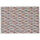 Watts Blue/Red Area Rug Rug Size: Rectangle 8' x 11'