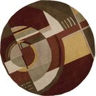 Estrada Art Deco Area Rug Rug Size: Round 5'6