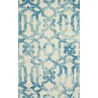 Frederick Hand-Hooked Ocean Area Rug Rug Size: Round 10'