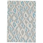 Cooper Ivory/Blue Area Rug Rug Size: Rectangle 10' x 13'2