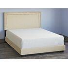 Charlie Upholstered Panel Headboard and Bed Frame Size: King, Color: Denim Blue