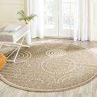 Mullen Circles Outdoor Power Loomed Rug Rug Size: Round 6'7