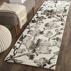 Brinkworth Hand Tufted Wool Ivory/Charcoal Area Rug Rug Size: Runner 2'3