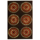 Dorthy Brown/Gold Area Rug Rug Size: Rectangle 3'6