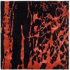 Chidi Black/Red Area Rug Rug Size: Square 6'