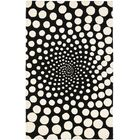 Chidi Black/Ivory Contemporary Rug Rug Size: Rectangle 7'6