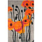 Armstrong Grey / Orange Contemporary Rug Rug Size: Rectangle 5' x 8'