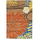 Armstrong Brown Floral Area Rug Rug Size: Rectangle 3'6