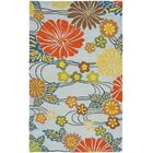 Armstrong Blue Area Rug Rug Size: Rectangle 3'6