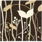 Armstrong Dark Brown Area Rug Rug Size: Square 6'