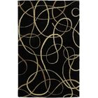 Hierius Black Area Rug Rug Size: Rectangle 8' x 11'