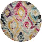Theresa Orange/Yellow Area Rug Rug Size: Round 6'7