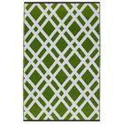Reva Hand Woven Lime Green Indoor/Outdoor Area Rug Rug Size: 5' x 8'