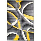 Rick Gray/Yellow Indoor Area Rug Rug Size: 4'10'' x 7'2