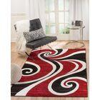 Rick Red/Black Indoor Area Rug Rug Size: 7'4