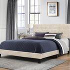 Decker Upholstered Panel Bed Size: Queen, Color: Linen