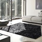 Catharine Hand-Woven Black Area Rug Rug Size: Rectangle 8' x 10'