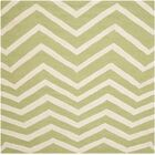 Charlenne Hand-Tufted Wool Green/Ivory Area Rug Rug Size: Square 6'