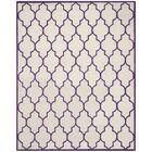 Charlenne Hand-Tufted Ivory/Purple Area Rug Rug Size: Rectangle 8' x 10'