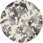 Chancey Dip Dyed Beige & Charcoal Area Rug Rug Size: Round 7'