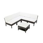 Maryann Complete Patio Garden 6 Piece Sectional Set with Cushions Color: Chocolate