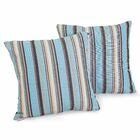 Carnegie Celeste Striped Sunbrella Throw Pillow