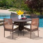 Parry 5 Piece Dining Set with Cushions