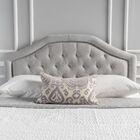 Bridges Upholstered Panel Headboard Upholstery: Light Gray, Size: Twin
