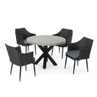 Calliphon Outdoor 5 Piece Dining Set with Cushions Color: Gray