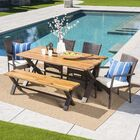 Polizzi Outdoor 6 Piece Dining Set with Cushions