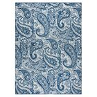 Pearl Ivory/Blue Indoor/Outdoor Area Rug Rug Size: Rectangle 7'10
