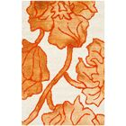 Coleman Hand-Tufted Ivory/Orange Area Rug Rug Size: Rectangle 8' x 10'