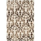 Coleman Hand-Tufted Ivory/Chocolate Area Rug Rug Size: Rectangle 4' x 6'