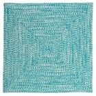 Hawkins Turquoise Indoor/Outdoor Area Rug Rug Size: Square 8'