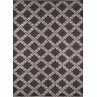 Jarrett Hand-Woven Brown/White Area Rug Rug Size: Runner 2'3
