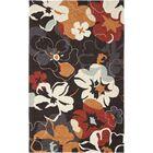 Doyle Black/Orange Outdoor Area Rug Rug Size: Rectangle 5' x 8'
