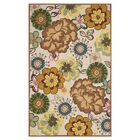 Doyle Ivory/Brown Outdoor Area Rug Rug Size: Rectangle 8' x 10'
