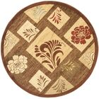 Southampton Brown Squared Area Rug Rug Size: Round 5'3