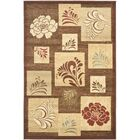 Southampton Brown Squared Area Rug Rug Size: Rectangle 6'7