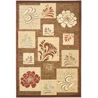 Southampton Brown Squared Area Rug Rug Size: Rectangle 5'3
