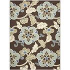Tierney Chocolate/Aqua Indoor/Outdoor Area Rug Rug Size: Rectangle 8' x 11'2
